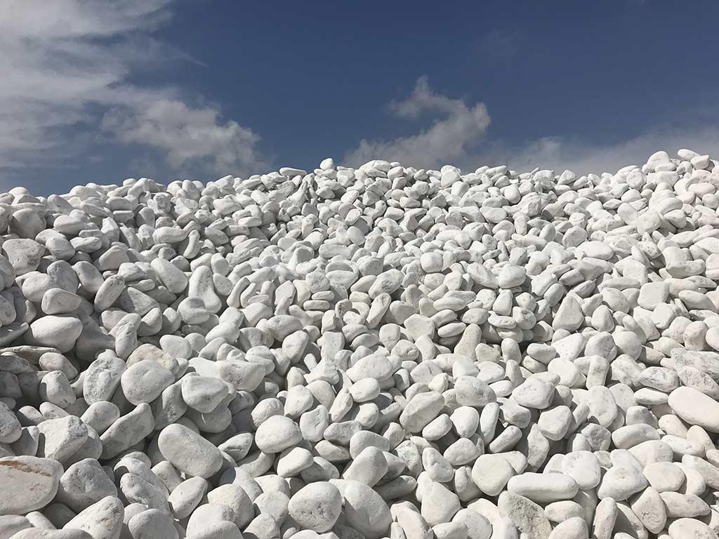 Galets de marbre de Carrare 60/100