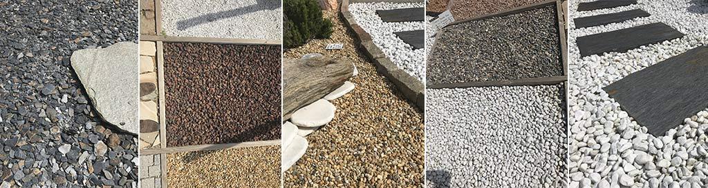 Galets et graviers de décoration de jardin chez Terres de Provence