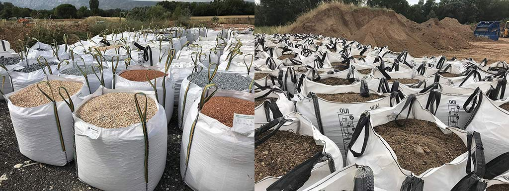 Big bags terre, galets, graviers