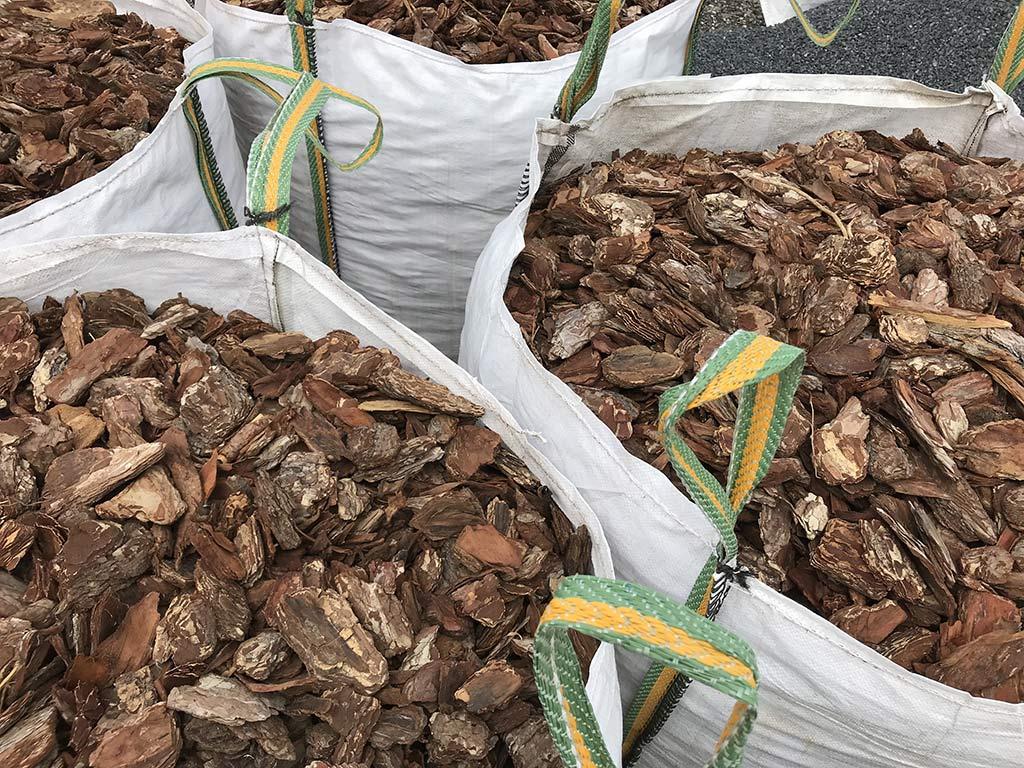 Ecorces de pin en big bag