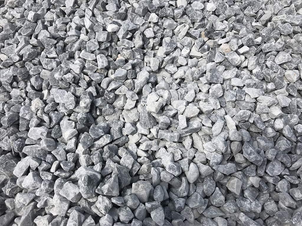 Petit gravier de marbre gris-bleu
