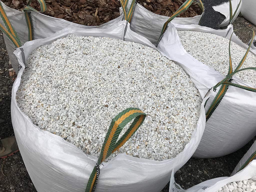 Petit gravier de marbre pur en big bag